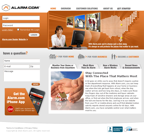 Alarm.com Sign-in